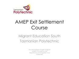 AMEP Exit Settlement Course