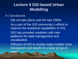Urban GIS Application