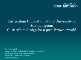 Curriculum Innovation at the University of Southampton