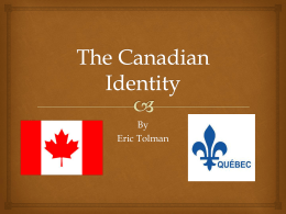 The Canadian Identity