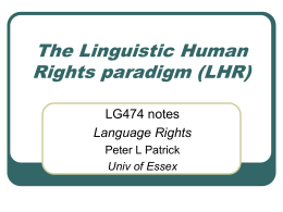 Linguistic Human Rights paradigm