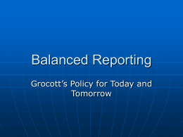Balanced Reporting - Rhodes University