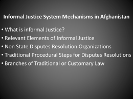 Linkage between Formal and Informal Justice Systems in