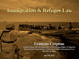 Controlling irregular migration in Canada