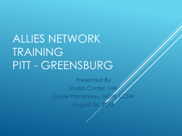 University of Pittsburgh Allies Network Training