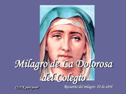 Milagro de la Virgen Dolorosa del Colegio