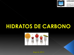 HIDRATOS DE CARBONO - Universidad Nac. de San …