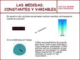 LAS MEDIDAS CONSTANTES Y VARIABLES