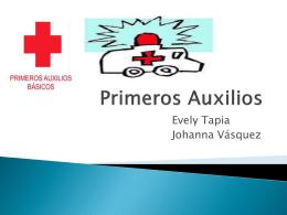 Primeros Auxilios - Departamento de Salud Municipal