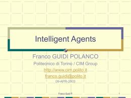 Intelligent Agents - Politecnico di Torino