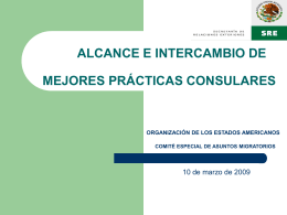 ALCANCES Y LIMITES - OAS :: Department of Conferences …