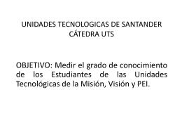 UNIDADES TECNOLOGICAS DE SANTANDER TECNOLOGIA …