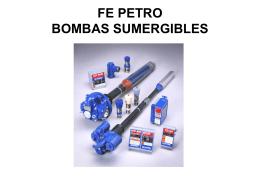 FE PETRO BOMBAS SUMERGIBLES