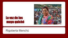 La voz de los maya quich&#233