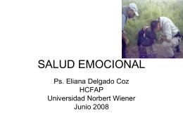SLUD EMOCIONAL - .:: Universidad Privada Norbert Wiener