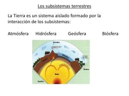 Los subsistemas terrestres - IED | Bachillerato para Adultos