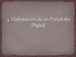 Elaboracion de un Portafolio Digital
