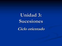Unidad 3: Sucesiones - IED | Bachillerato para Adultos