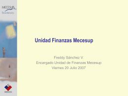 Unidad Finanzas Mecesup