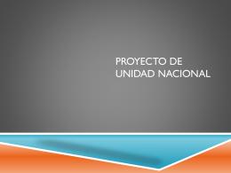 PROYECTO DE UNIDAD NACIONAL