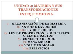 UNIDAD 4: MATERIA Y SUS TRANSFORMACIONES …