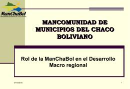PROPUESTA DE FUNCIONAMIENTO DE LA MANCHABOL Y …