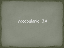 Vocabulario 3A - Spanish