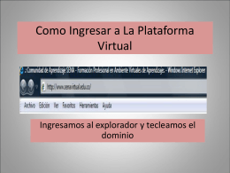 Como Ingresar a La Plataforma Virtual