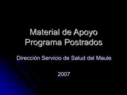 Material de Apoyo Programa Postrados