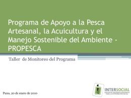 Programa de Apoyo a la Pesca Artesanal, la Acuicultura y