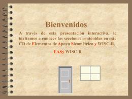 Elementos de Apoyo Sicometrico y Wisc-R
