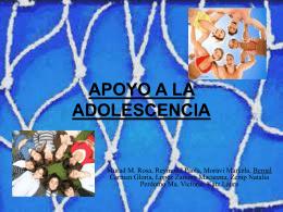 APOYO A LA ADOLESCENCIA