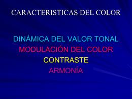 CARACTERISTICAS DEL COLOR