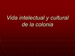 Cultura colonial - U of L Class Index