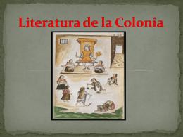 Literatura de la Colonia - INTENTANDO ESCRIBIR MEJOR | …