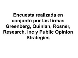 Encuesta realizada en conjunto por las firmas Greenberg