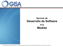 Diapositiva 1 - GISA Software