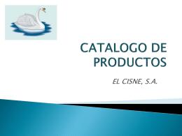 CATALOGO DE PRODUCTOS - El Cisne