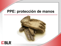 PPE: Hand Protection (Spanish)