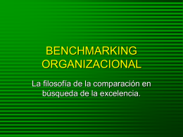 BENCHMARKING ORGANIZACIONAL