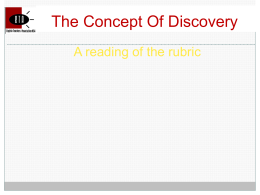 The Concept Of Discovery - English Teachers Association > …
