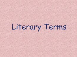 Literary Terms Teaching Powerpoint