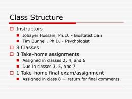 Basics of Statistics - University of Delaware