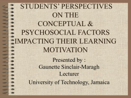 STUDENT'S PERSPECTIVES ON THE CONCEPTUAL & …