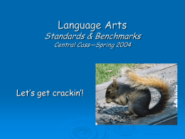 Language Arts Standards & Benchmarks Central …