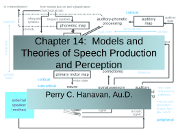 Chapter 14: Models and Theories of Speech Production …