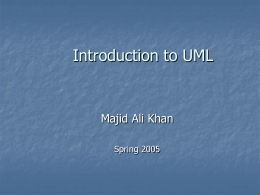 Introduction to UML - University of Central