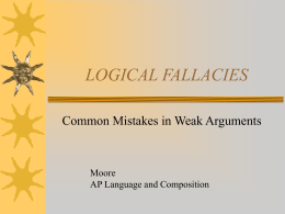 LOGICAL FALLACIES - Southwest Career and Technical …