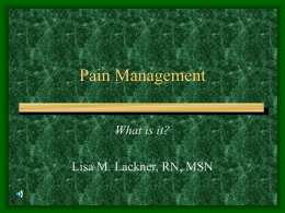 Pain Management - US Forest Service