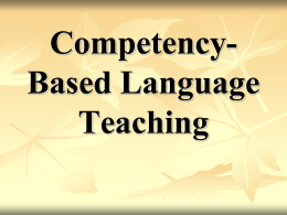 Chapter 13: Competency-Based Language Teaching …